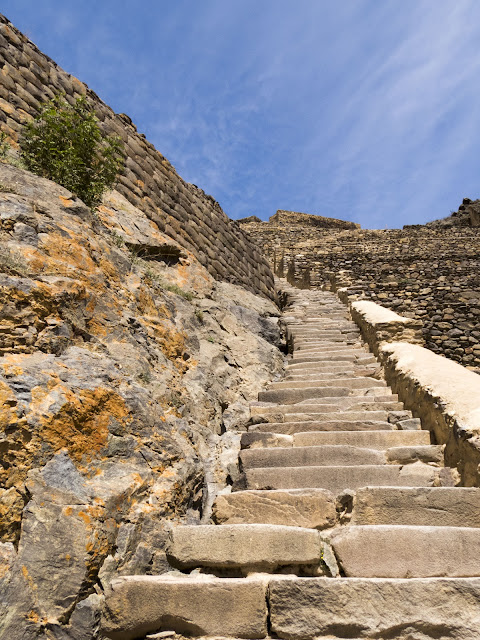 Steps at the Ollantaytambo Ruins in Peru