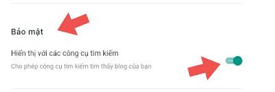 Blog hiện thị với các công cụ tìm kiếm