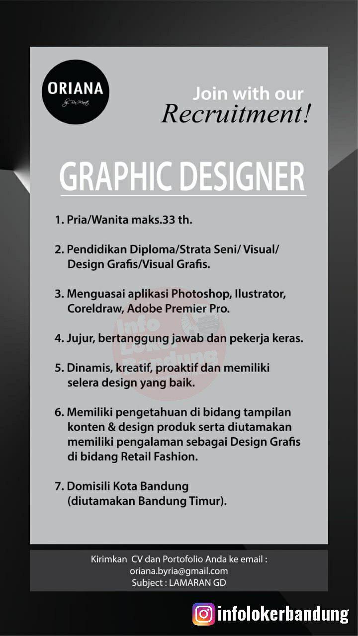 Lowongan Kerja Graphic Designer Oriana Boutique & Scarves Bandung Juli 2019