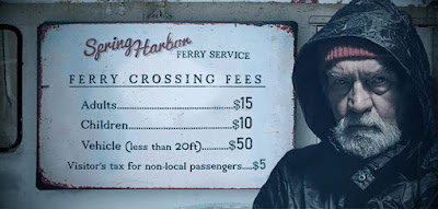 To get to the forest, you have to take the ferry. The ferryman warns you not to go there. To scare you away, he charges three and a half times the normal overall fee. How much do you have to pay? (image)