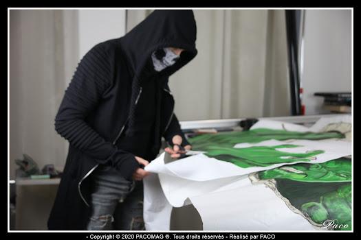 Préparation des prochains street art de Paco street artiste de Sedan