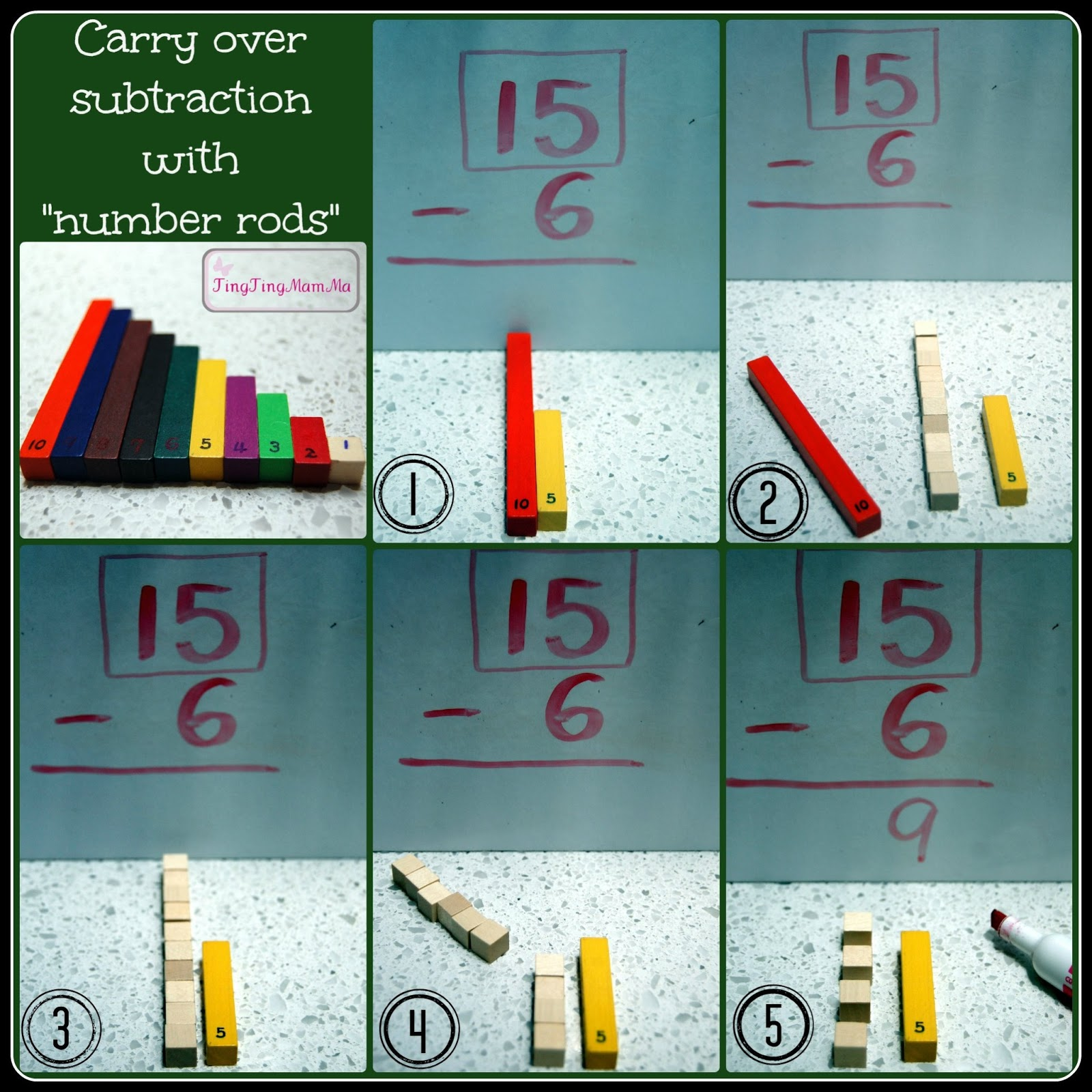 Tingtingmamma Jj S New Math Skill Carry Over Subtraction