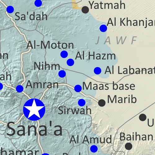 Map of what's happening in Yemen as of December 2020, including territorial control for the unrecognized Houthi government, president-in-exile Hadi and his allies in the Saudi-led coalition, the UAE-backed southern separatist Southern Transitional Council (STC), and Al Qaeda in the Arabian Peninsula (AQAP). Includes recent locations of fighting and other events, including Maas base, Lawdar, Al-Uqlah, Zinjibar, and more.