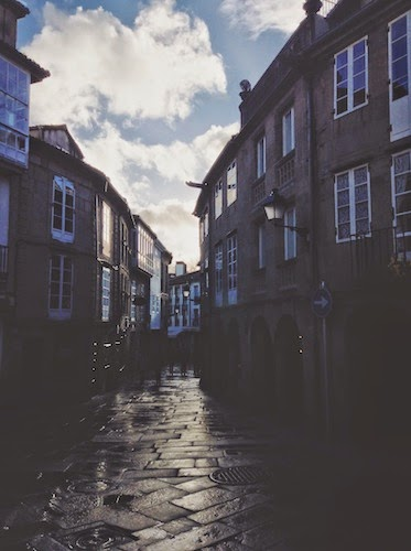 Rain in Galicia, Spain