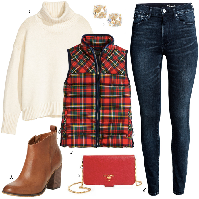 Plaid Vest Christmas outfit
