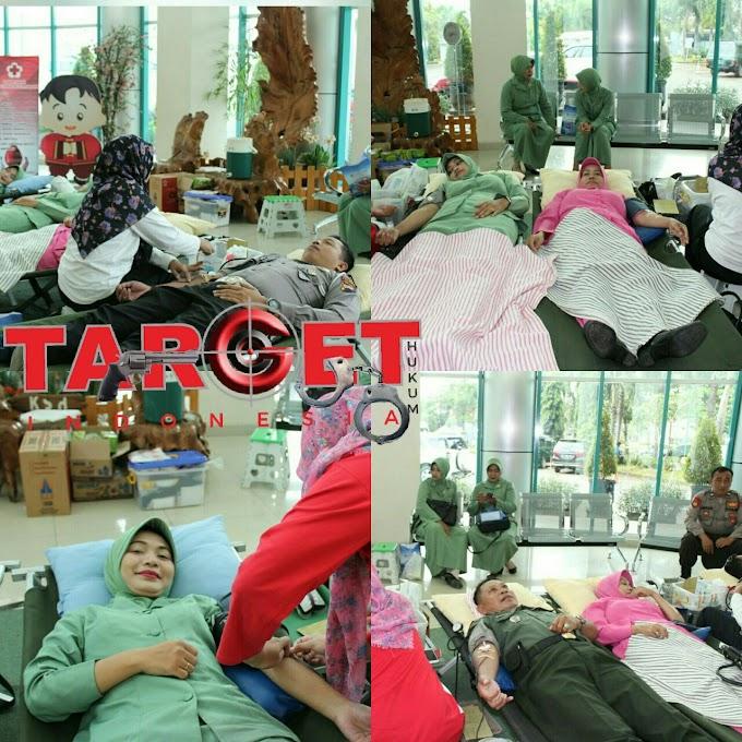 Polri Dan TNI Peduli Bantuan Kaskuser Kemanusiaan Donor Darah