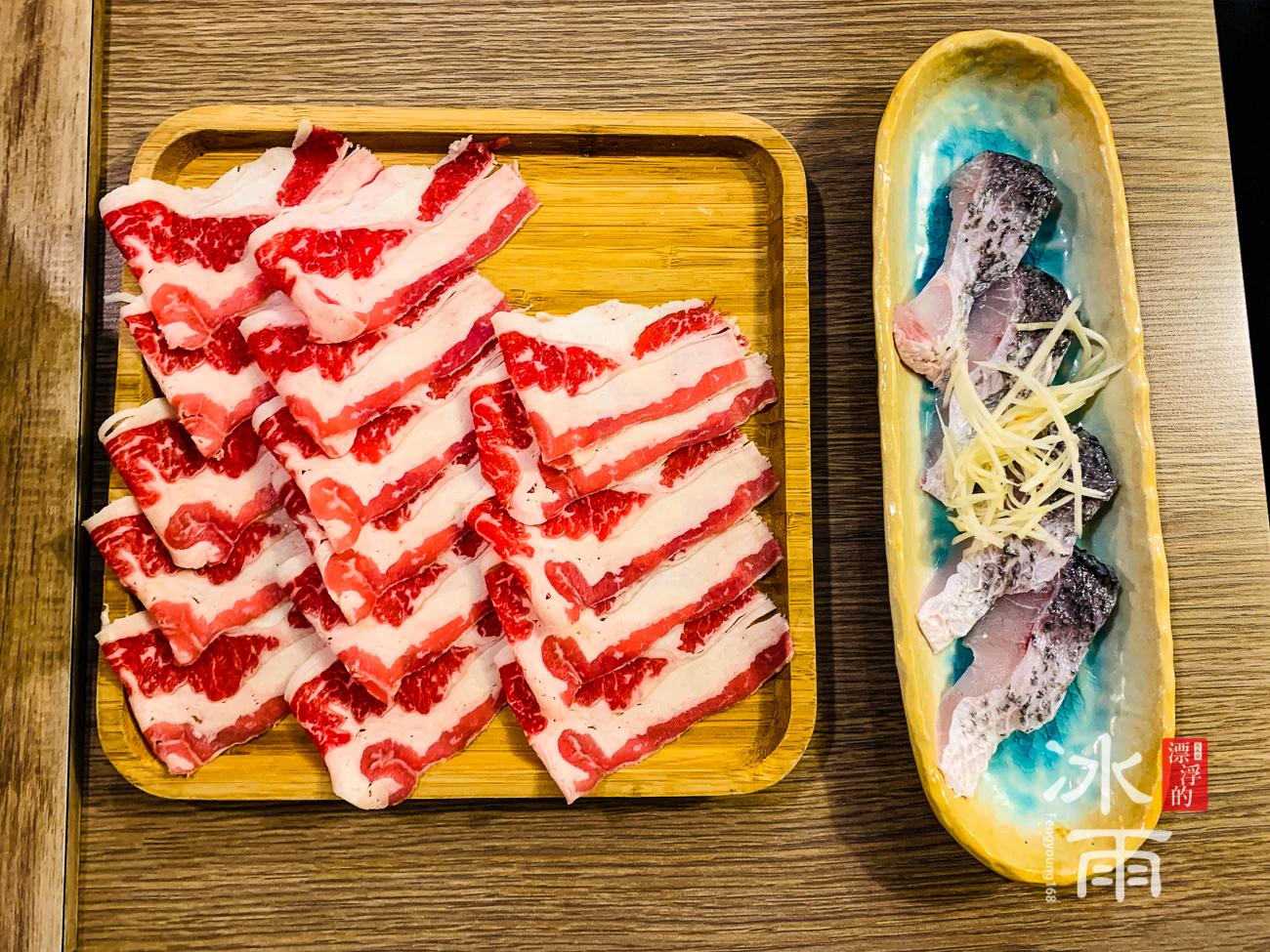 築湘養生麻辣火鍋店|肉盤和現撈鱸魚