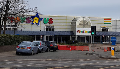 Toys R Us at the Central Retail Park in Manchester. February 2019