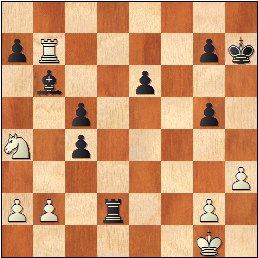 Partida de ajedrez Ortueta - Sanz, junio de 1933, posición después de 31.Ca4