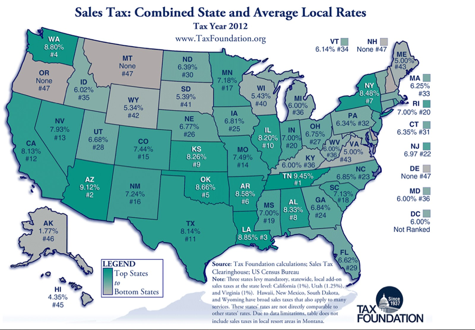 Map Of Just Arizona.Rim Country Gazette Not Just Education Az Sales Tax Among Worst