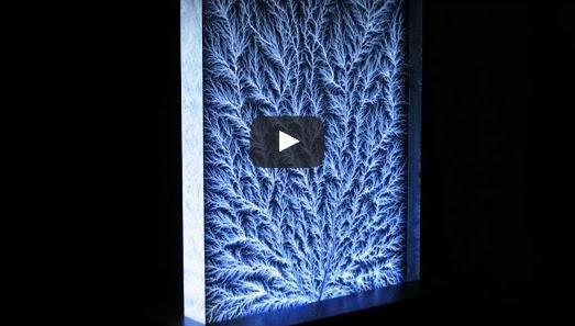 2.5 Million Volt Lightning Bolt-Captured in Glass Video
