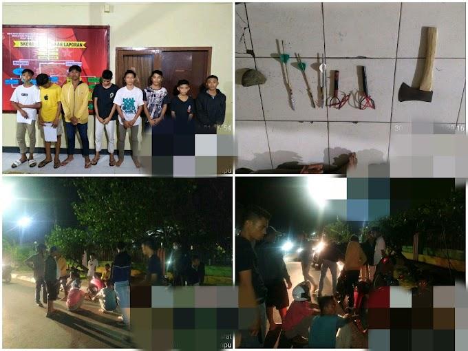 Delapan Remaja Bersenjata Tajam Terjaring Patroli Cipta Kondisi Di Cabang Cakra Woja, Dompu