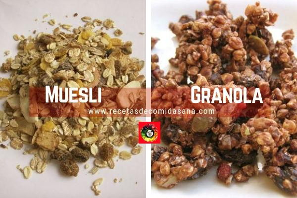 Diferencia entre el Muesli y la Granola