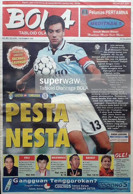 TABLOID BOLA: LAZIO VS CHELSEA PESTA NESTA