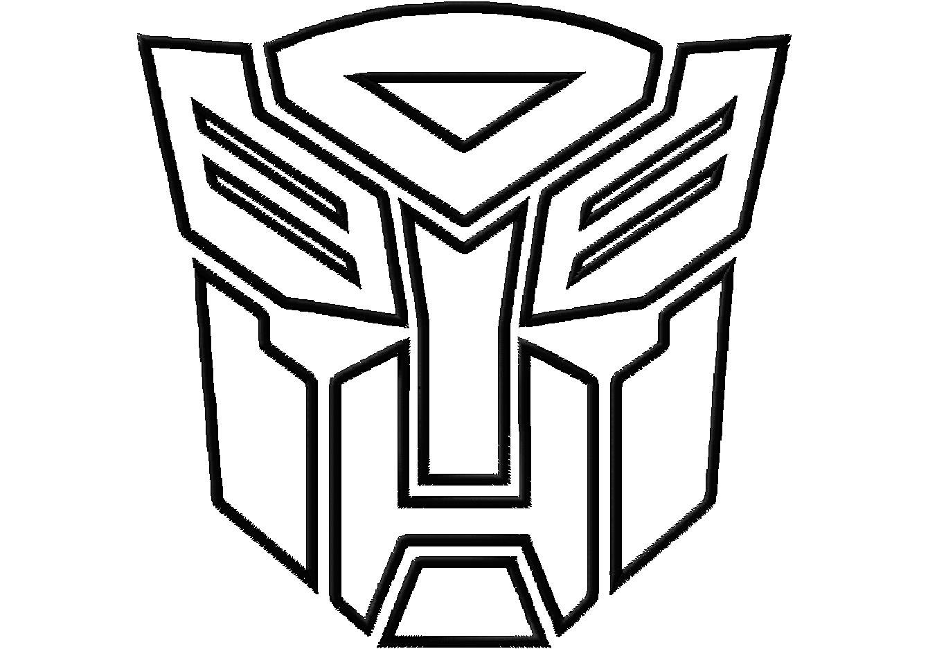 Transformers symbol coloring pages to print ~ Sewing and Stenciling for Boys - Scattered Thoughts of a ...