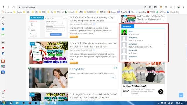 Cách tạo Widget bình luận mới nhất đẹp và cực đơn giản cho Blogspot 2020