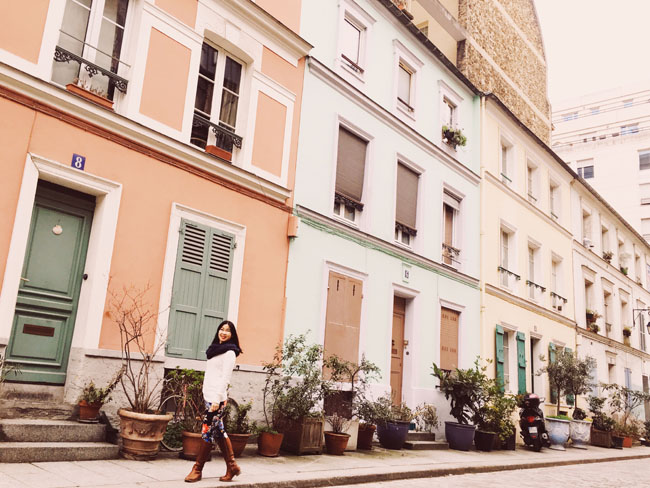 Most Instagrammable Places in Paris - Rue Cremieux