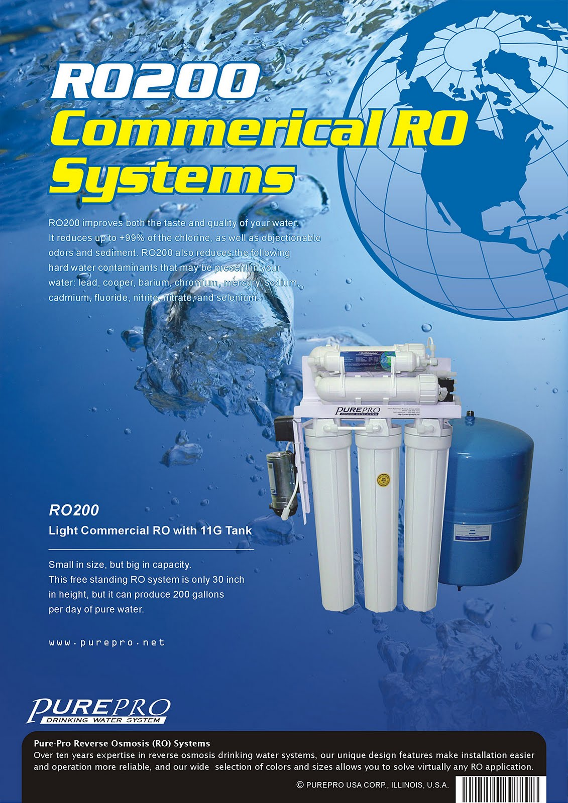 PurePro® RO200 Light Commercial Reverse Osmosis Water System