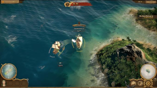 Of Ships and Scoundrels game is an interesting mix of action with elements of turn-based strategy