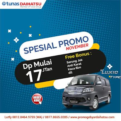 Promo Daihatsu Luxio November 2018
