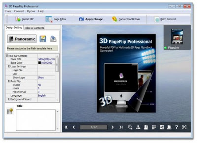 Free Download 3D PageFlip Pro 1 6 9 Full Version Patch | Software