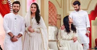 Faizan Sheikh and Maham Amir Gorgeous Clicks from Ramazan Show