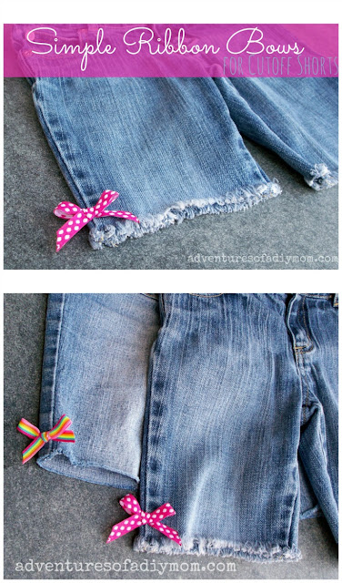 Simple Ribbon Bow on Cutoff Jeans