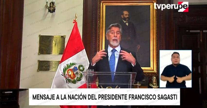 MENSAJE A LA NACIÓN: Mensaje Presidencial de Francisco Sagasti (23 Noviembre 2020) EN VIVO
