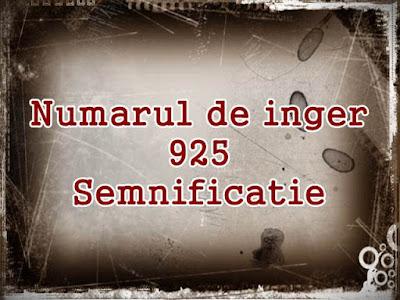 semficatie numarul de inger 925