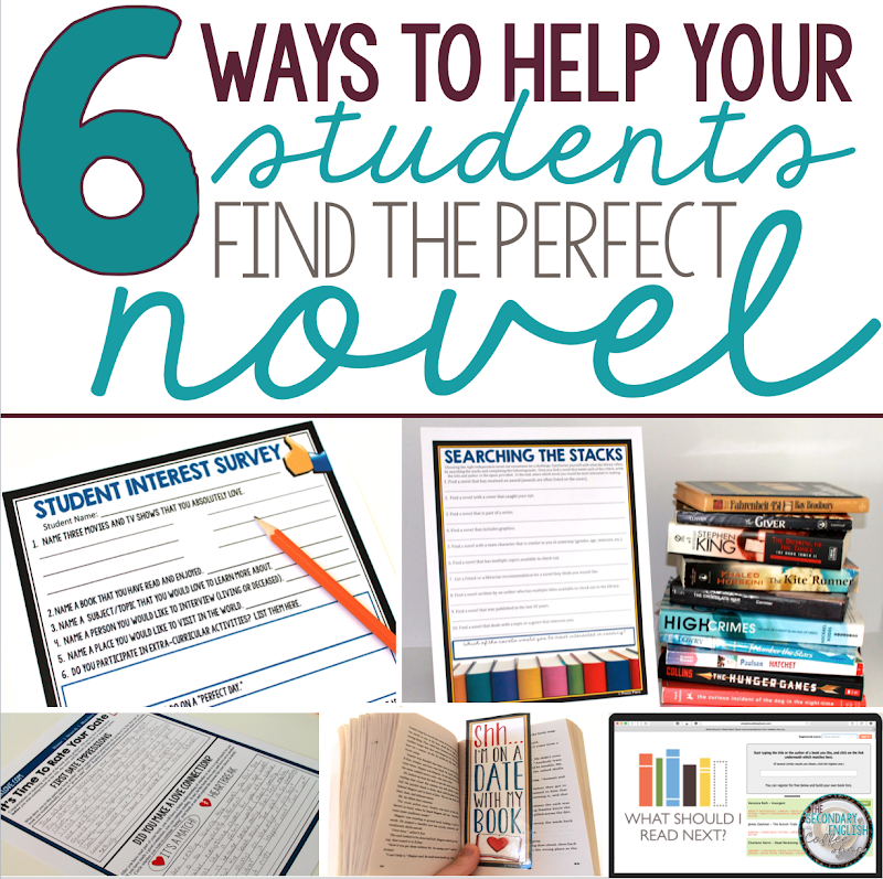 6 Ways To Help Your Students Find The Perfect Novel