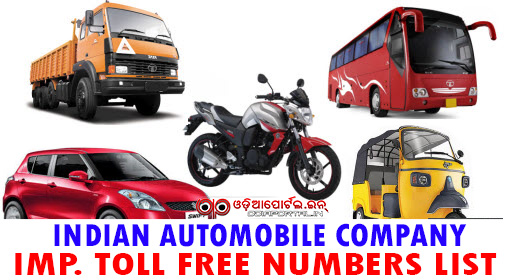 "Here is the list of Important Indian Automobile Companies Customer Care Toll Free numbers (1800-xxx-xxxx). The list includes Toll free numbers of well known Bike, Car, Tractor, Truck, Construction Machine manufacturers of India. Toll Free Number (1800) List for ""Indian Automobile Companies"", Toll Free Number (1800) List for *Indian Automobile Companies* - Customer Care, Complaint Toll Free Numbers"