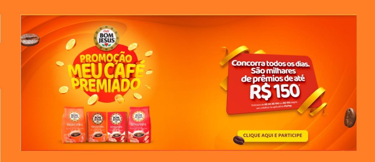 Promoção Meu Café Premiado Bom Jesus 2020 Prêmios Todo Dia Até 150 Reais Créditos PicPay - Cadastrar