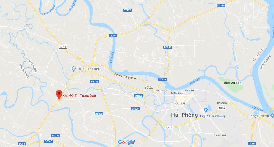 Bản đồ vị trí khu đô thị Seoul Ecohome Tràng Duệ