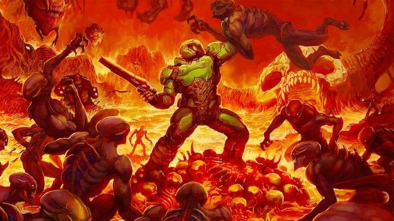 It Was Developed By Id Software Doom Is Considered To Be One Of The Pioneering First Person Shooter Games Download HD Wallpaper Now