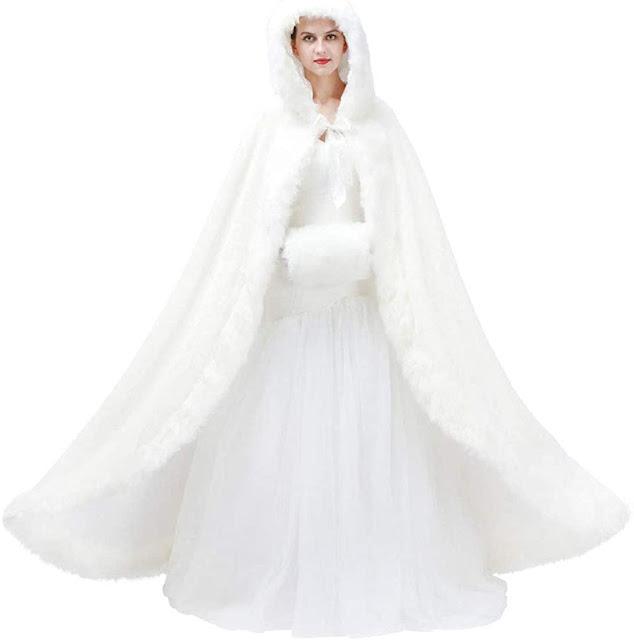 Faux Fur Coat Jacket Cloak for Wedding