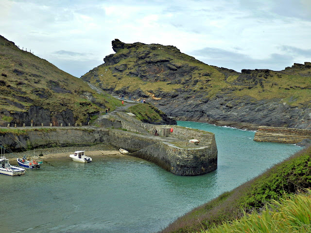 The harbour filling with water at Boscastle, Cornwall