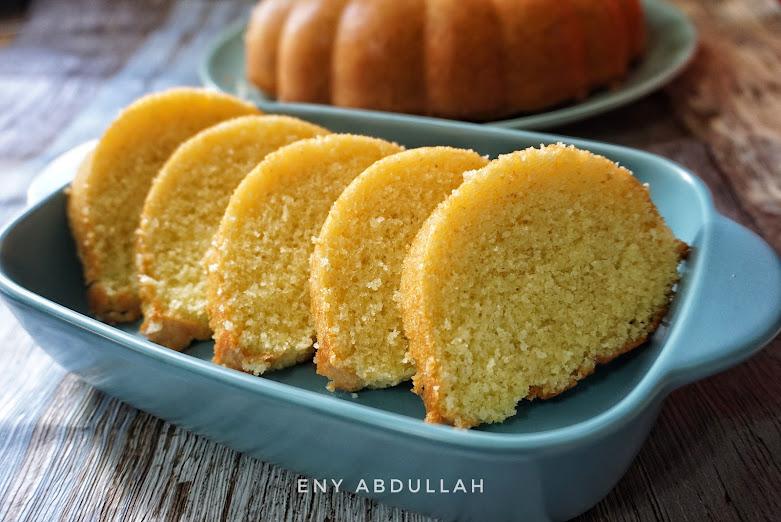 Semolina Buttercake, kek suji, sugee cake, eurasian sugee cake, tepung suji, suji buttercake
