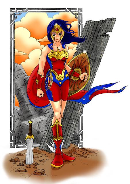 Wonder Woman en couleur - par Juju gribouille