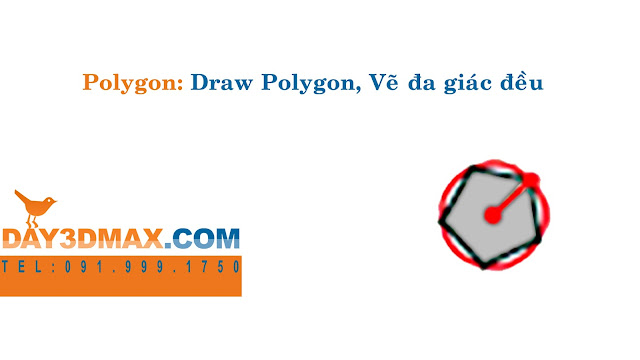 Dạy học 3d sketchup 9 sử dụng lệnh vẽ polygon learning sketchup study 3d how to use polygon tool