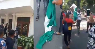 Nigerians In Indonesia Protest, Burns Down Its Embassy In Jakarta