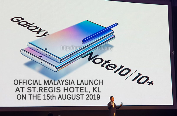 Malaysia Galaxy Note 10 and 10 Plus Launch