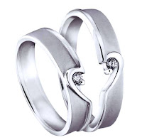 Cincin nikah palladium couple love