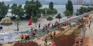 China Ledakkan Bendungan Chuhe, 1,8 Juta Orang Dievakuasi