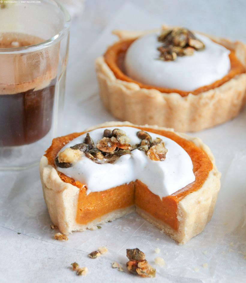 Pumpkin Pie mit Kürbiskern-Krokant