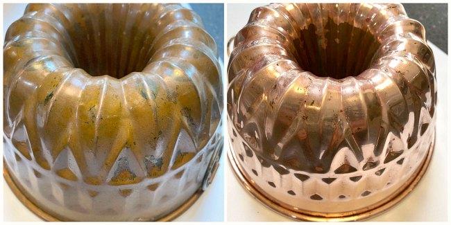 Rose gold bundt pans