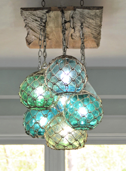 Blue Glass Float Ceiling Pendant Lights