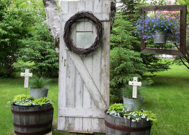 Peaceful and Neutral Garden Vignette