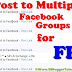 How To Post to Multiple Facebook Groups for FREE