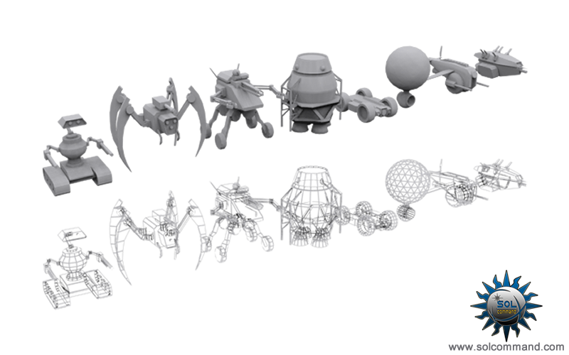 space ship, player, pod, drone, combat, crawler, flying, baloon, mech, spider, low poly, free download, 3d model, hunter ,robot, free 3d models download solcommand concept