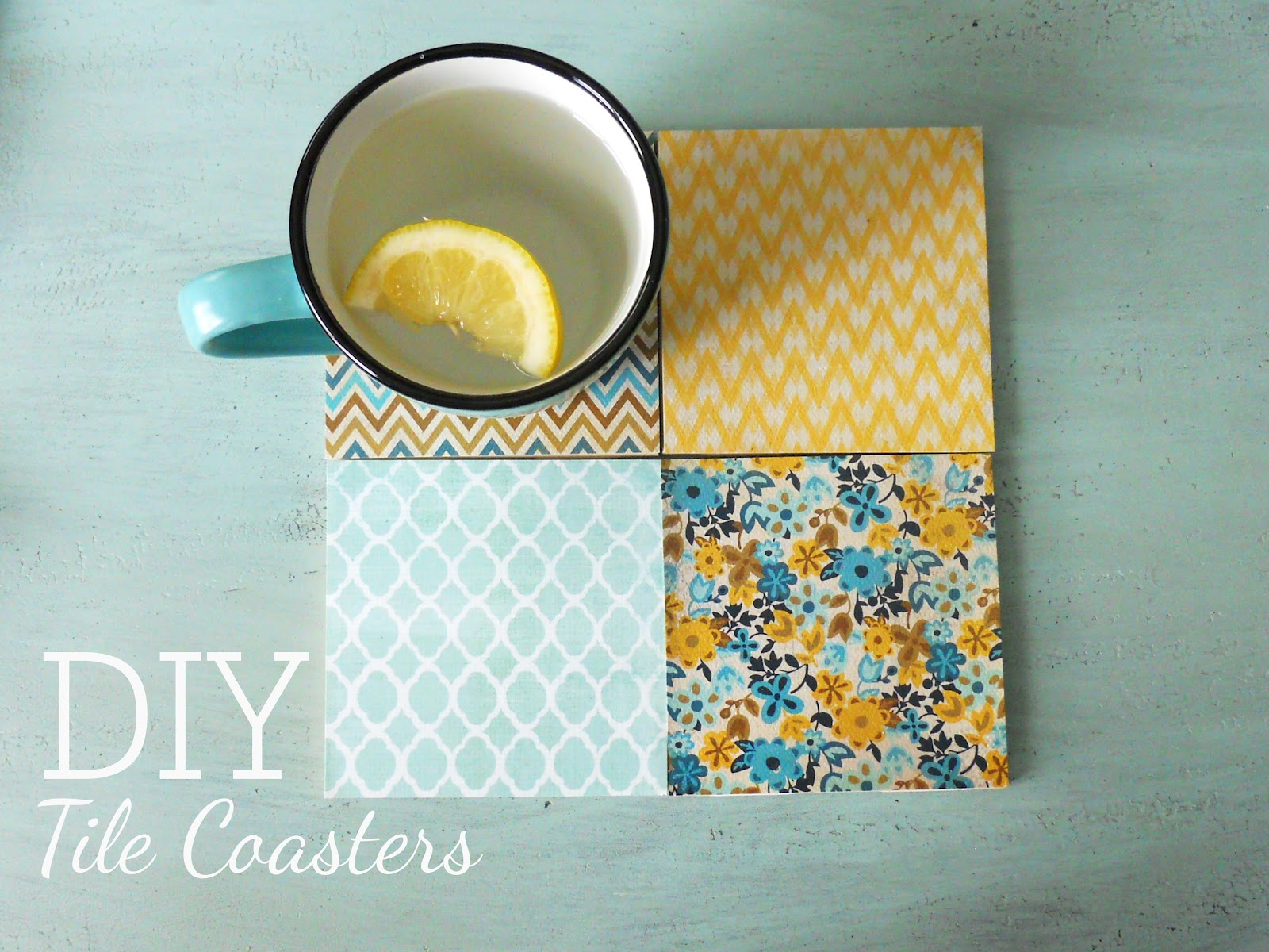Diy Table Coasters Diy Tile Coasters Delightfully Noted